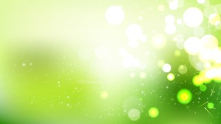 Abstract Green and White Bokeh Background Vector Graphic