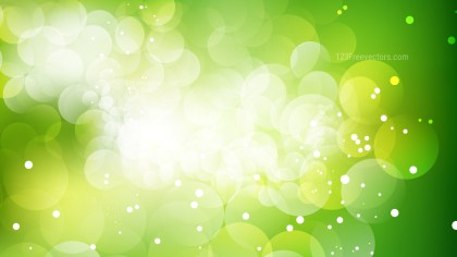 Abstract Green and White Defocused Lights Background Vector
