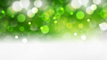 Green and White Blurred Bokeh Background