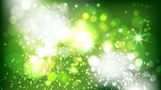 Abstract Green and White Bokeh Defocused Lights Background Vector Illustration