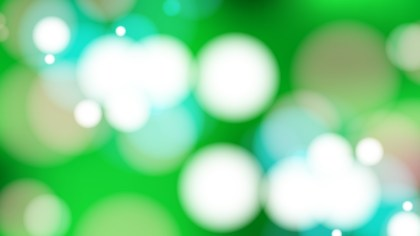 Abstract Green and White Blurry Lights Background Vector Art