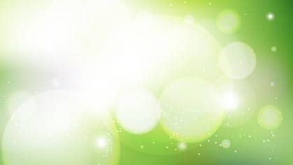 Abstract Green and White Defocused Lights Background Vector Graphic