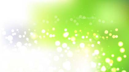 Abstract Green and White Lights Background Vector Image