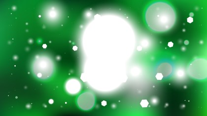 Green and White Defocused Background Illustration