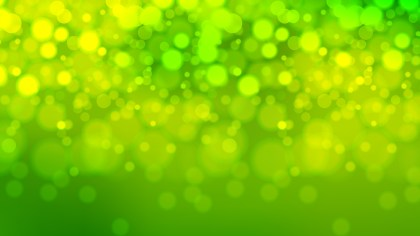 Abstract Green and Yellow Bokeh Lights Background