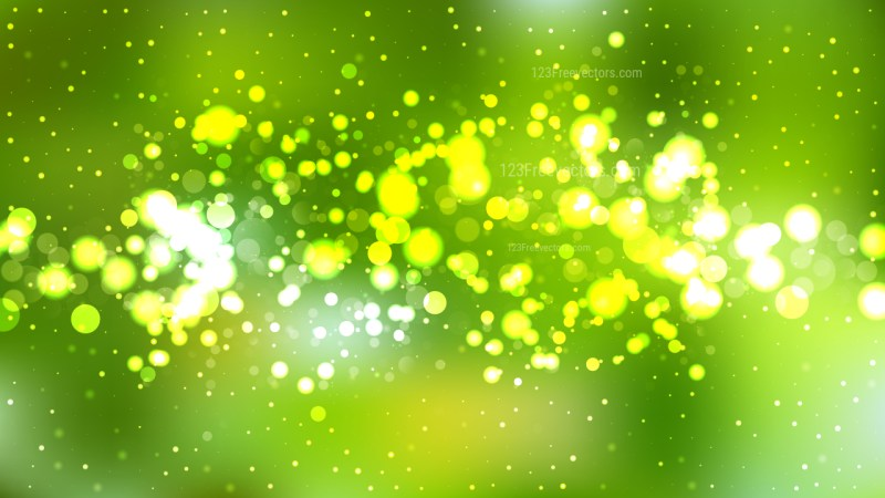 Green and Yellow Defocused Background