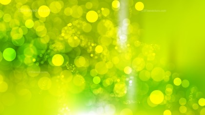 Abstract Green and Yellow Defocused Lights Background Design