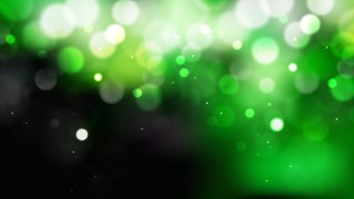 Abstract Green Black and White Bokeh Lights Background