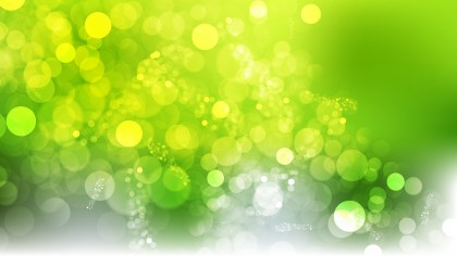 Green Yellow and White Defocused Lights Background Vector