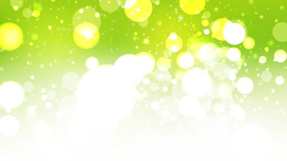 Abstract Green Yellow and White Defocused Background Vector Illustration
