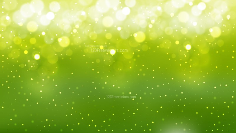 Green Yellow and White Bokeh Defocused Lights Background
