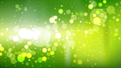Abstract Green Yellow and White Blur Lights Background