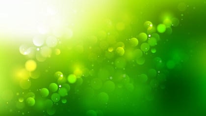 Abstract Green Yellow and White Blurry Lights Background