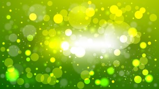 Abstract Green Yellow and White Blurred Bokeh Background Illustration