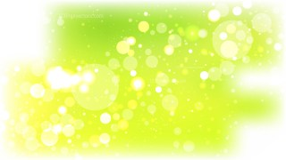 Green Yellow and White Blurred Lights Background Design