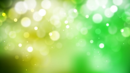 Abstract Green Yellow and White Defocused Lights Background Vector