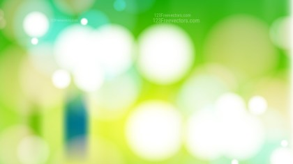 Abstract Green Yellow and White Lights Background Vector Art