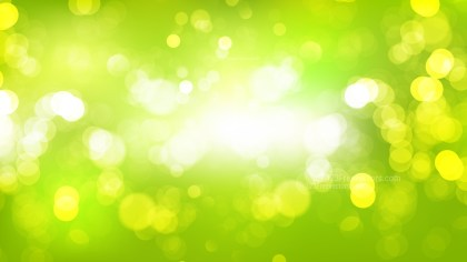 Abstract Green Yellow and White Illuminated Background Vector Illustration