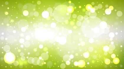 Abstract Green Yellow and White Lights Background