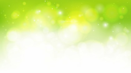 Abstract Green Yellow and White Bokeh Background Graphic