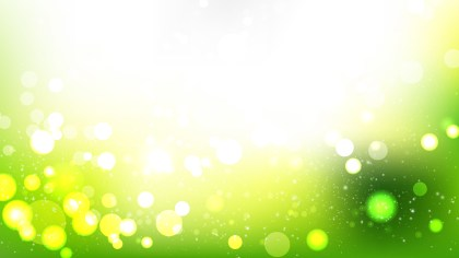 Green Yellow and White Blurry Lights Background