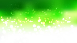 Green Yellow and White Blurred Bokeh Background Vector Illustration