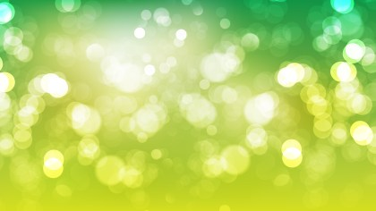 Green Yellow and White Blurry Lights Background Vector Art