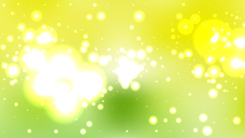 Abstract Green Yellow and White Bokeh Lights Background Vector Graphic