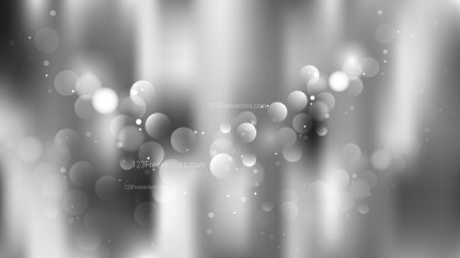 Grey Blurry Lights Background Vector Illustration