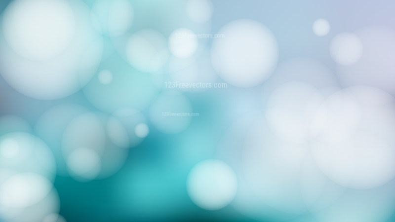 Grey and Turquoise Bokeh Defocused Lights Background