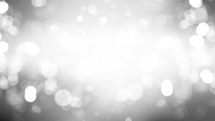 Grey and White Bokeh Defocused Lights Background Vector Art