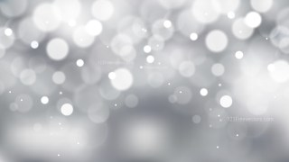 Grey and White Bokeh Lights Background Graphic