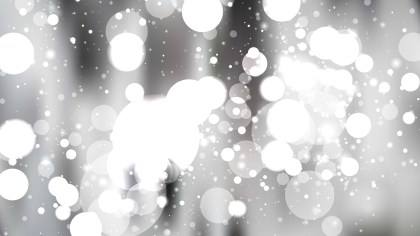 Abstract Grey and White Blurred Lights Background