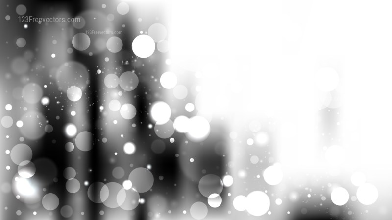 Abstract Grey and White Bokeh Background