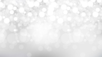Abstract Grey and White Blurred Bokeh Background Vector Image