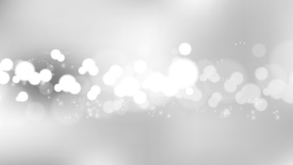 Abstract Grey and White Bokeh Defocused Lights Background Vector Art