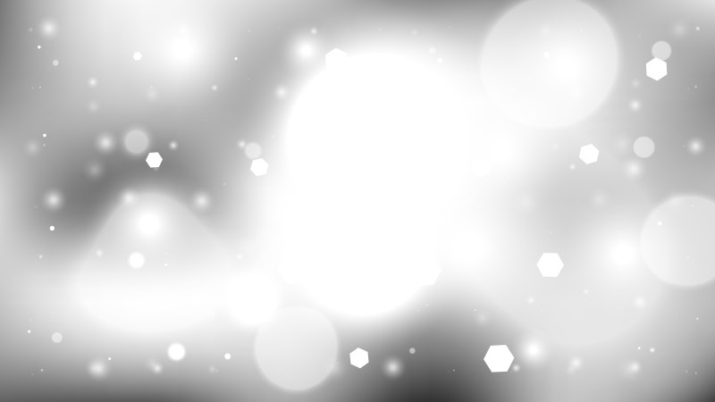 Grey and White Bokeh Lights Background Design