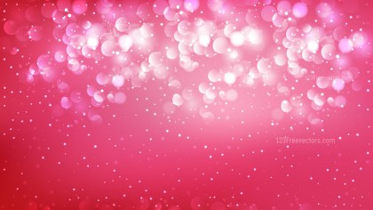 Abstract Hot Pink Blurred Bokeh Background