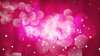 Abstract Hot Pink Bokeh Background