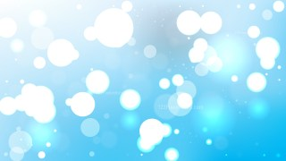 Abstract Light Blue Bokeh Defocused Lights Background