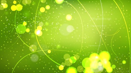 Lime Green Bokeh Lights Background