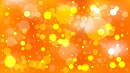 Orange Blurred Bokeh Background