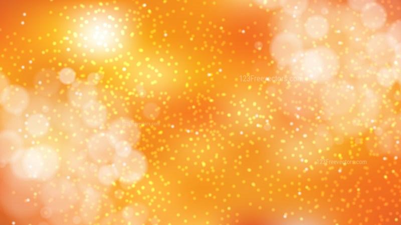 Orange Bokeh Defocused Lights Background