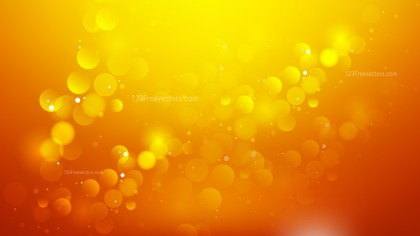 Abstract Orange Blur Lights Background Vector