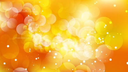 Abstract Orange Bokeh Background Design