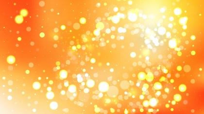 Orange Bokeh Lights Background Graphic