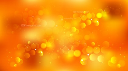 Orange Bokeh Lights Background
