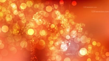 Orange Bokeh Lights Background Vector Graphic