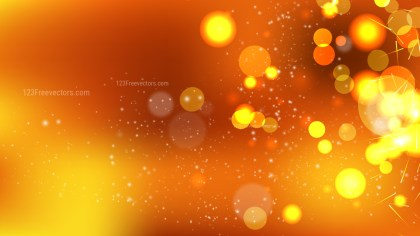 Abstract Orange Blur Lights Background