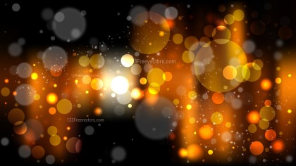 Abstract Orange and Black Blur Lights Background
